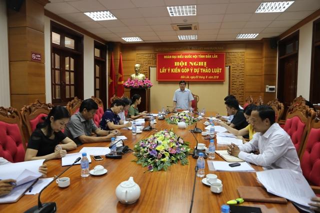 Hội nghị lấy ý kiến góp ý dự thảo luật