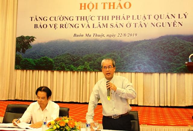 Hội thảo tăng cường thực thi pháp luật quản lý bảo vệ rừng và lâm sản ở Tây Nguyên