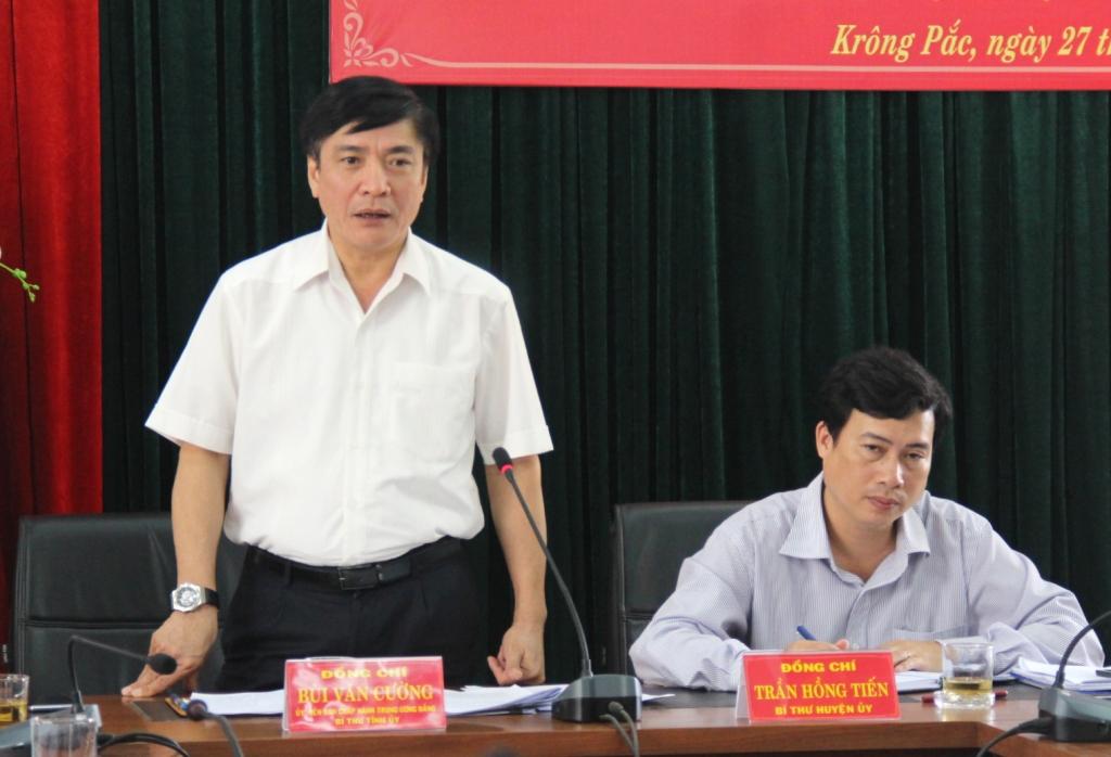 Đoàn công tác của Tỉnh ủy làm việc với Huyện ủy Krông Pắk