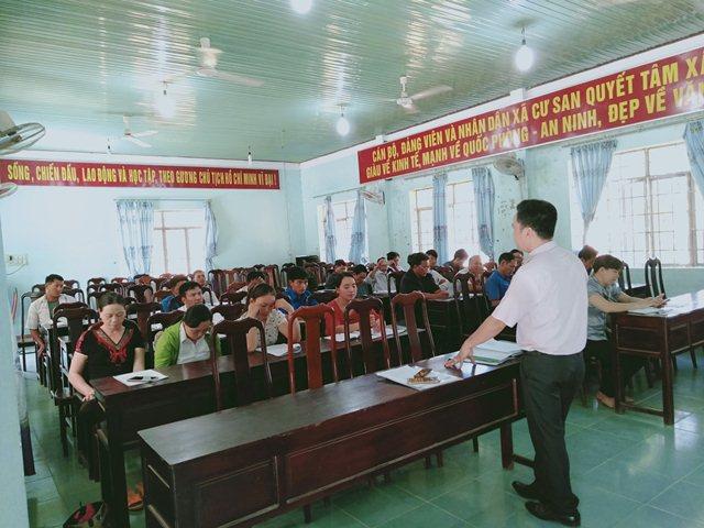 Ngân hàng Chính sách xã hội huyện M'Drắk: Tập huấn nghiệp vụ tín dụng chính sách xã hội năm 2019