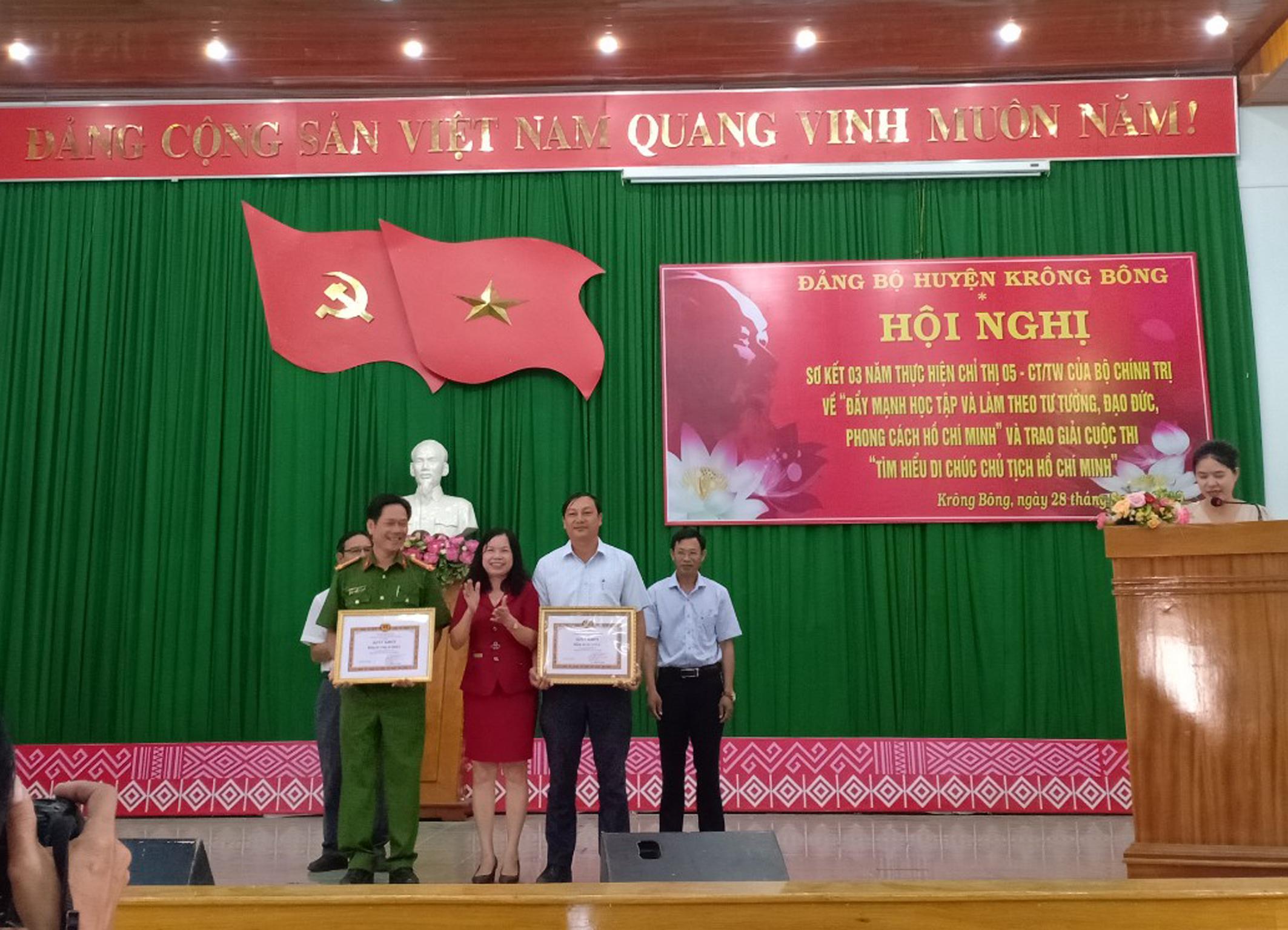 Đảng bộ huyện Krông Bông sơ kết 03 năm thực hiện Chỉ thị số 05-CT/TW của Bộ Chính trị