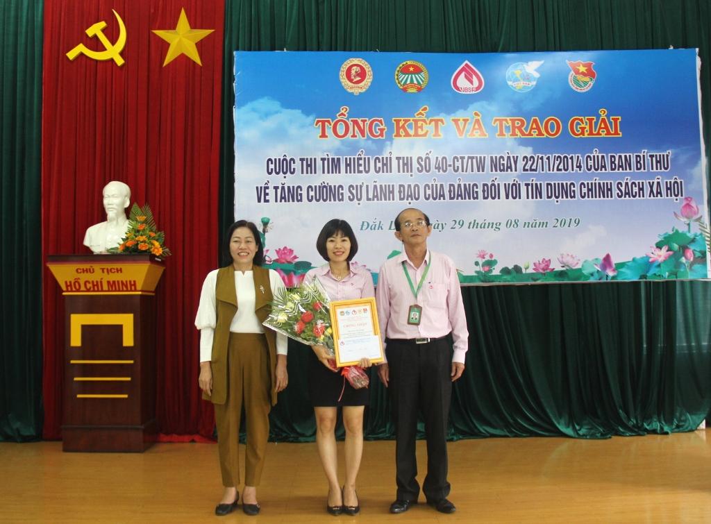 Tổng kết và trao giải Cuộc thi tìm hiểu về tín dụng chính sách