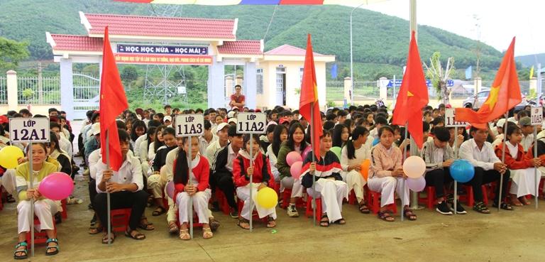 Lễ khai giảng đầu tiên của Trường THPT Nguyễn Chí Thanh