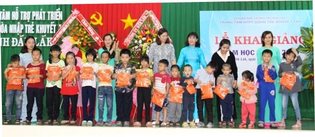 Trung tâm hỗ trợ phát triển giáo dục hòa nhập trẻ khuyết tật khai giảng năm học mới