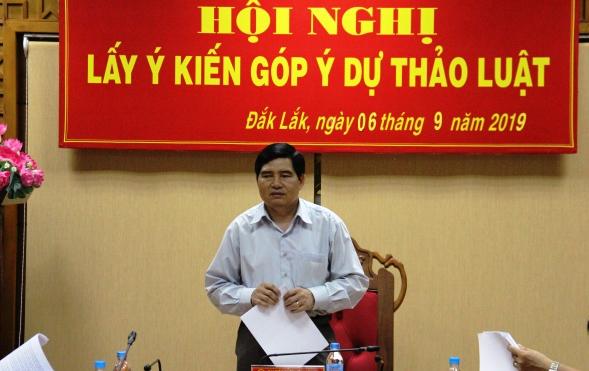 Đoàn Đại biểu Quốc hội tỉnh Đắk Lắk lấy ý kiến góp ý đối với dự thảo Luật