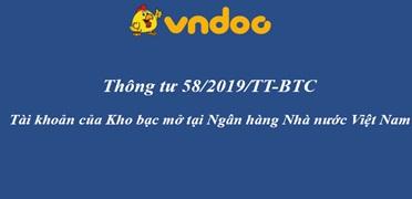 Triển khai Thông tư số 58/2019/TT-BTC ngày 30/8/2019 của Bộ Tài chính