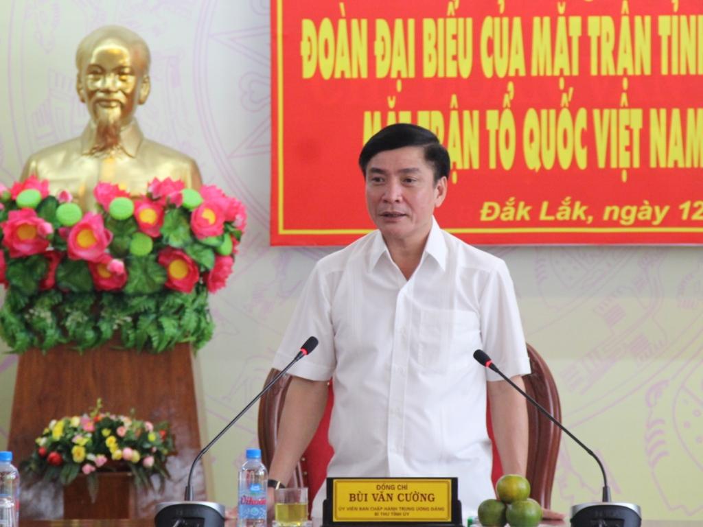 Gặp mặt đoàn đại biểu đi dự Đại hội đại biểu toàn quốc Mặt trận Tổ quốc Việt Nam lần thứ IX