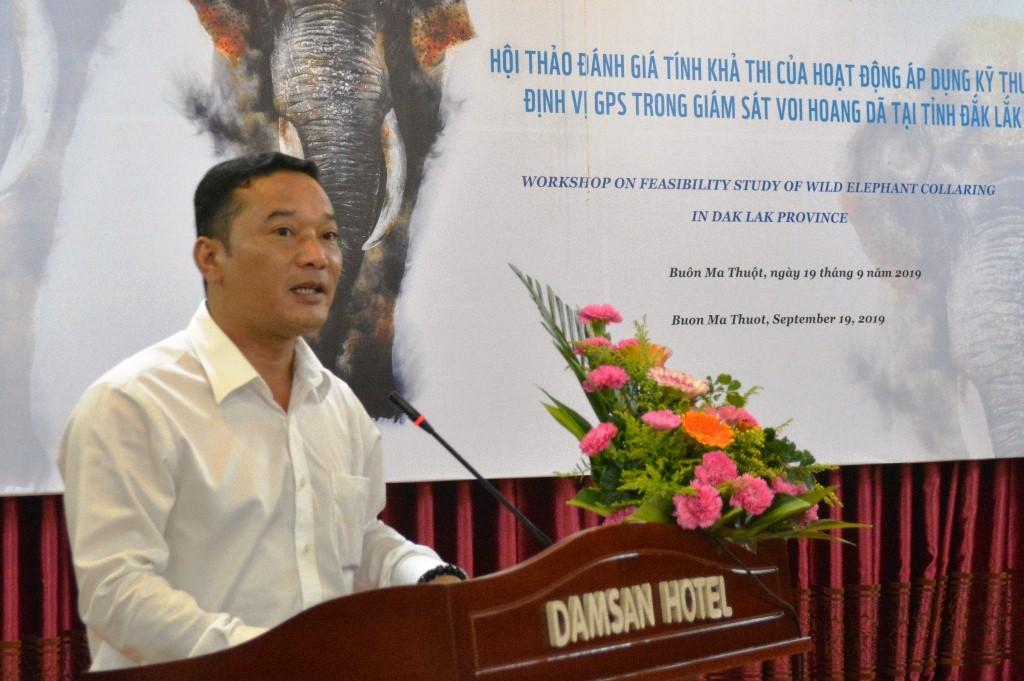 Hội thảo đánh giá tính khả thi kỹ thuật định vị GPS trong giám sát voi hoang dã