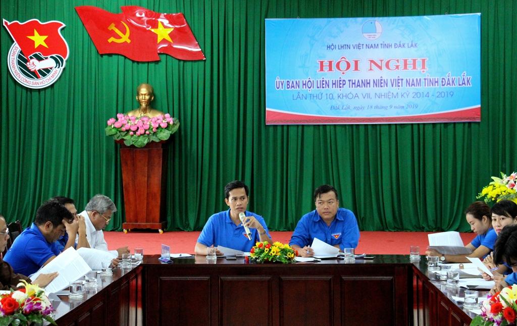 Hội nghị Ủy ban Hội LHTN Việt Nam tỉnh Đắk Lắk lần thứ 10, khóa VII, nhiệm kỳ 2014 - 2019