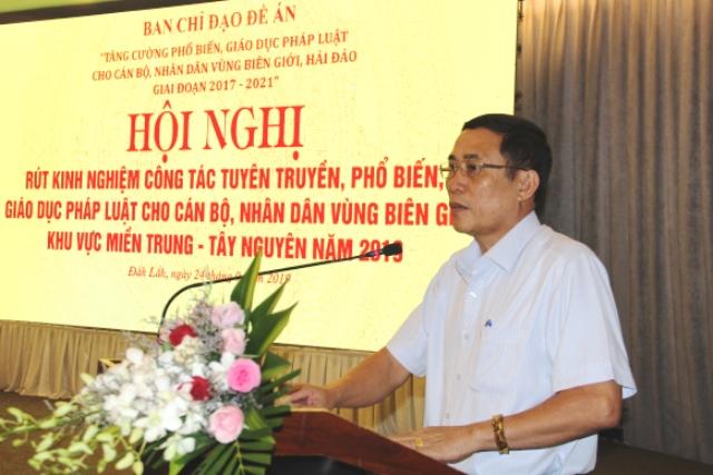 Hội nghị rút kinh nghiệm công tác tuyên truyền, phổ biến giáo dục pháp luật khu vực Miền Trung – Tây Nguyên năm 2019