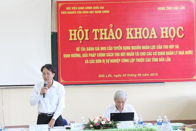 Hội thảo khoa học định hướng, giải pháp chính sách thu hút nhân tài cho tỉnh Đắk Lắk