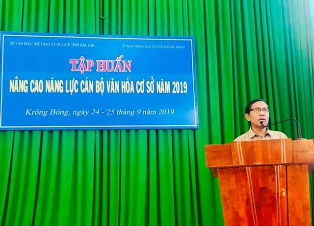 Tập huấn nâng cao năng lực cán bộ văn hóa cơ sở huyện Krông Bông năm 2019