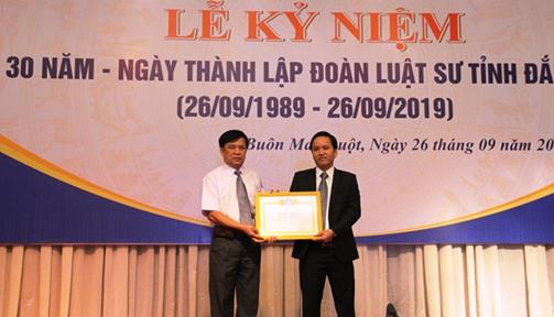 Đoàn Luật sư tỉnh Đắk Lắk kỷ niệm 30 năm thành lập (26/9/1989-26/9/2019)