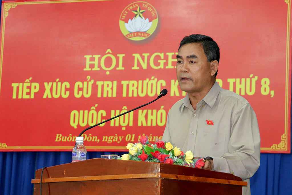 Hơn 100 cử tri tham gia Hội nghị tiếp xúc cử tri trước Kỳ họp thứ 8, Quốc hội khóa XIV