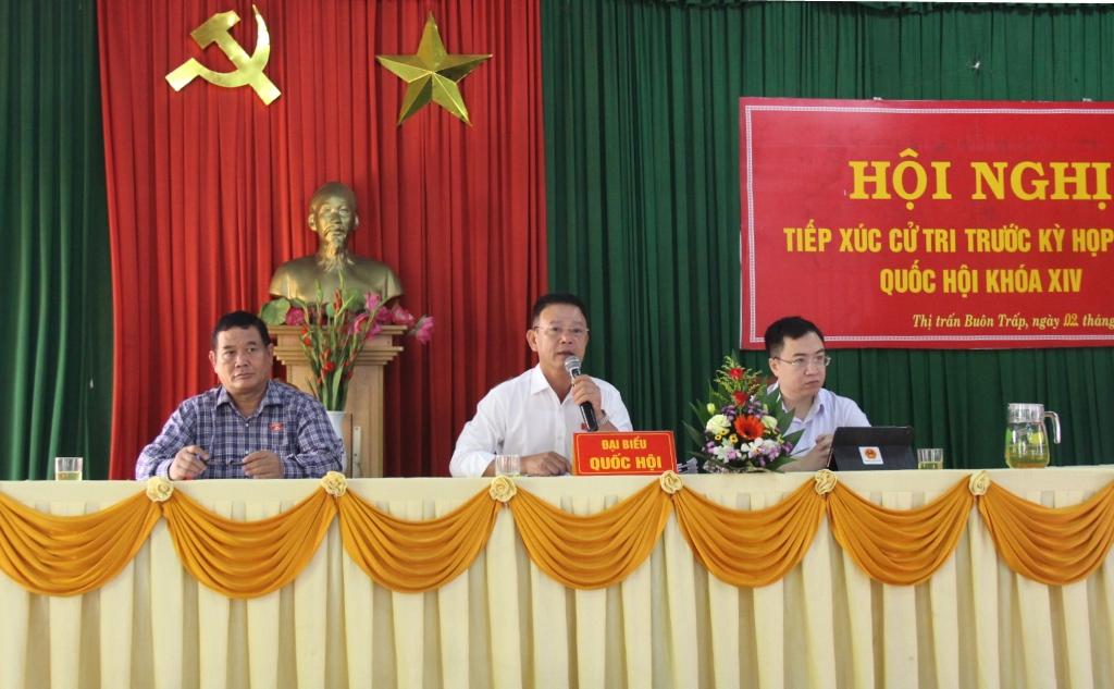 Đoàn Đại biểu Quốc hội tỉnh tiếp xúc cử tri huyện Krông Ana