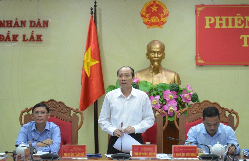 UBND tỉnh họp Phiên thường kỳ tháng 9/2019