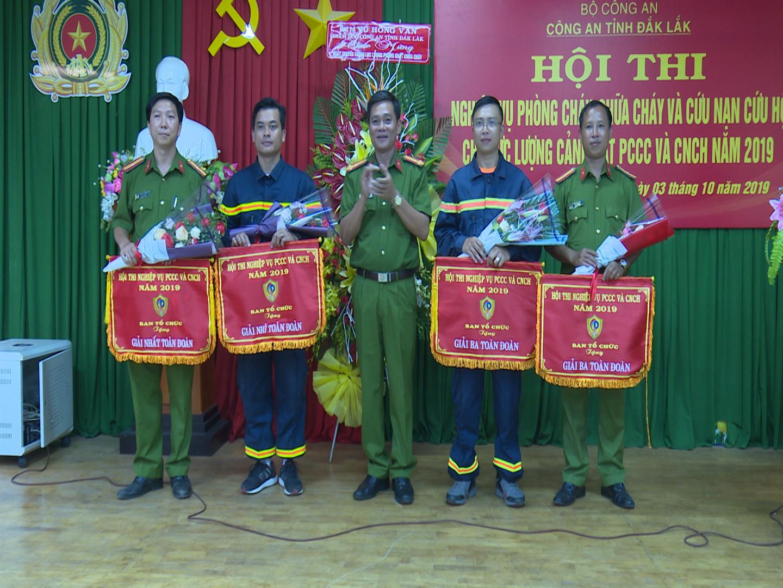 Công an tỉnh Đắk Lắk tổ chức Hội thi nghiệp vụ phòng cháy, chữa cháy và cứu nạn cứu hộ năm 2019