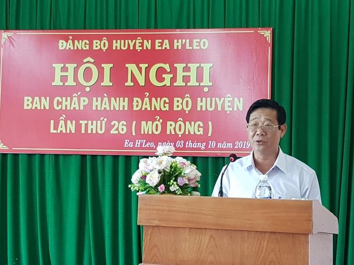 Đảng bộ huyện Ea H'leo: Hội nghị Ban Chấp hành lần thứ 26 (mở rộng)