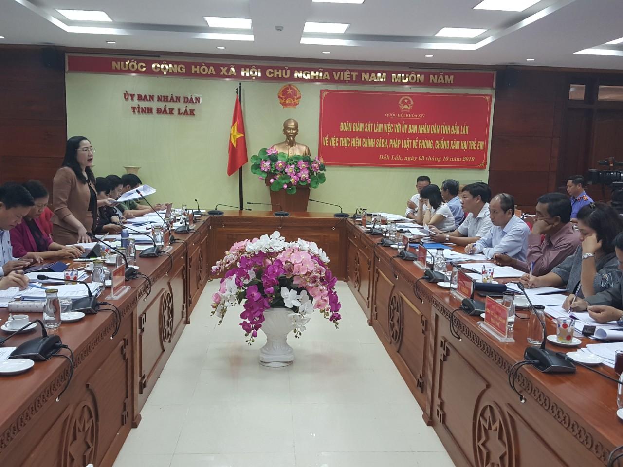 Đoàn giám sát của Quốc hội làm việc tại tỉnh Đắk Lắk
