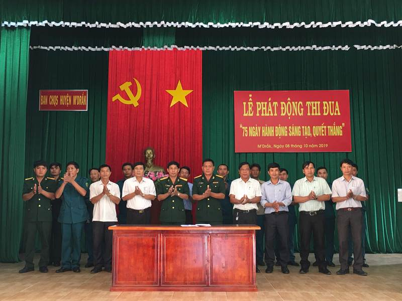 """Huyện M'Drắk phát động thi đua cao điểm """"75 ngày hành động sáng tạo quyết thắng"""""""
