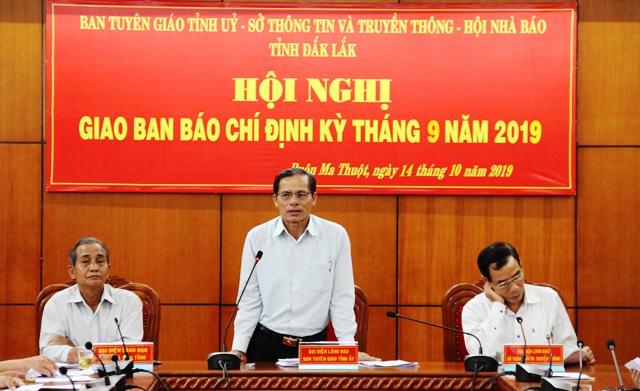 Hội nghị giao ban báo chí định kỳ tháng 9 năm 2019