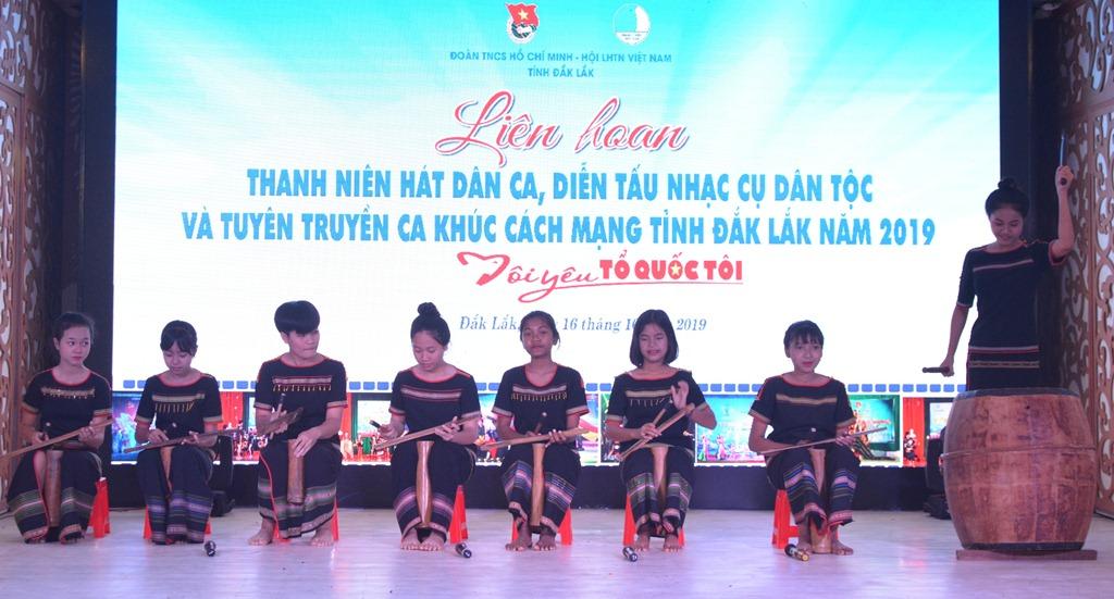 Khai mạc Liên hoan Thanh niên hát dân ca, diễn tấu nhạc cụ dân tộc và tuyên truyền ca khúc cách mạng tỉnh Đắk Lắk năm 2019