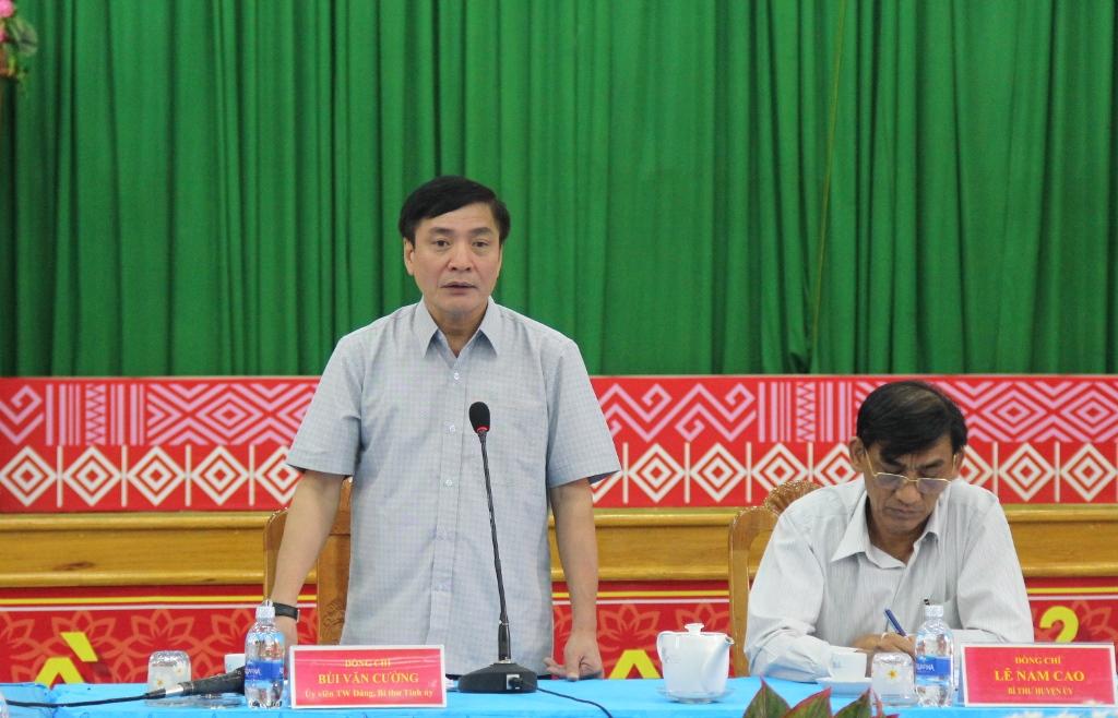 Thường trực Tỉnh uỷ làm việc với Huyện uỷ Krông Bông