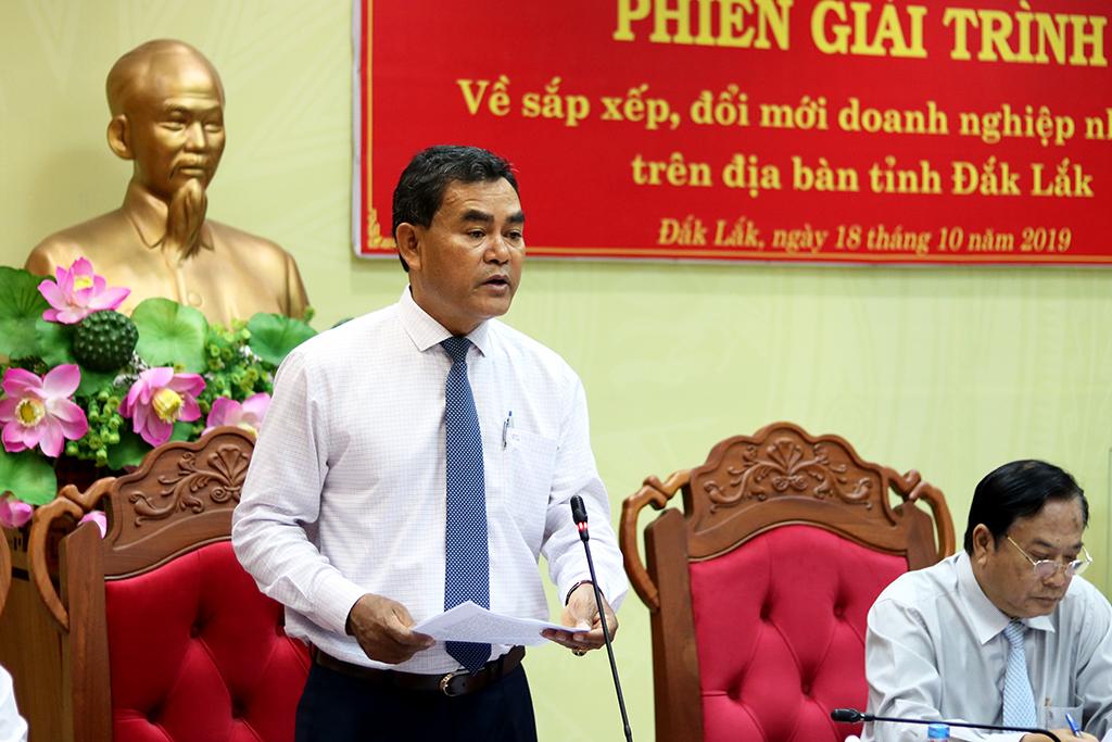 HĐND tỉnh tổ chức phiên giải trình về sắp xếp, đổi mới doanh nghiệp nhà nước trên địa bàn tỉnh