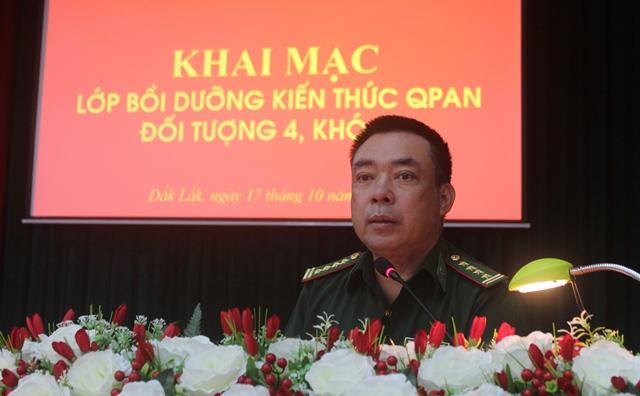 BĐBP Đắk Lắk: Tổ chức bồi dưỡng kiến thức quốc phòng an ninh