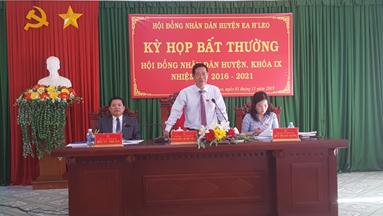 Kỳ họp bất thường HĐND huyện Ea H'leo khoá IX nhiệm kỳ 2016 – 2021