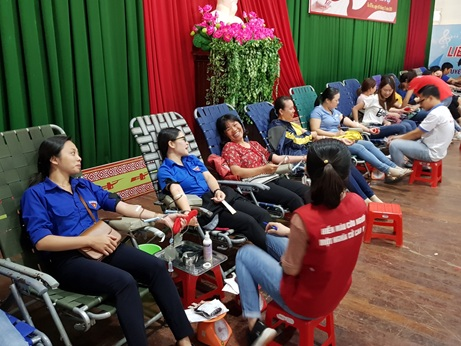 Huyện Ea H'Leo 484 người tham gia ngày hội hiến máu tình nguyện đợt 2 năm 2019.