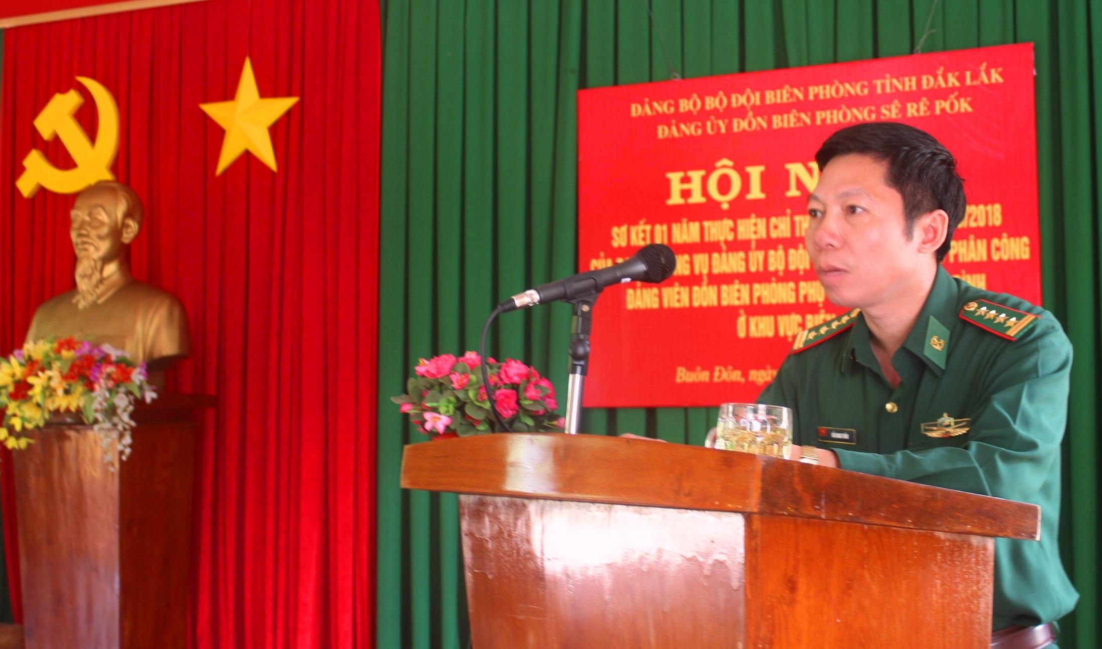 Phát huy vai trò đảng viên Đồn Biên phòng phụ trách các hộ gia đình ở khu vực biên giới tỉnh Đắk Lắk
