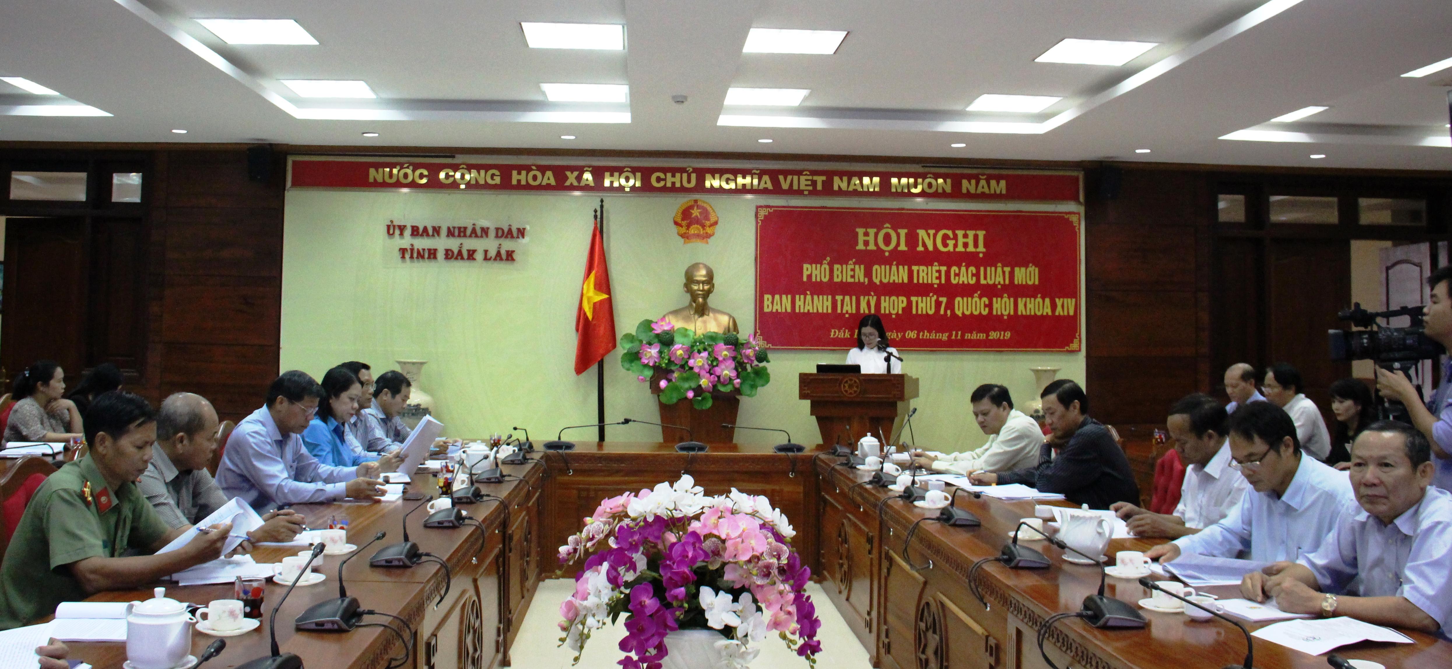 Hội nghị trực tuyến phổ biến các Luật mới ban hành tại Kỳ họp thứ 7, Quốc hội khóa XIV