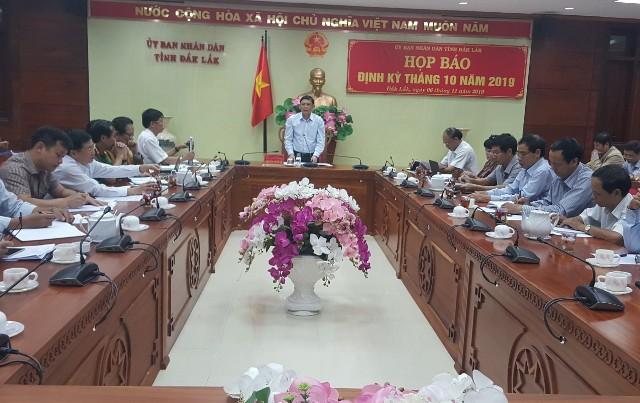 UBND tỉnh tổ chức họp báo định kỳ tháng 10 năm 2019.