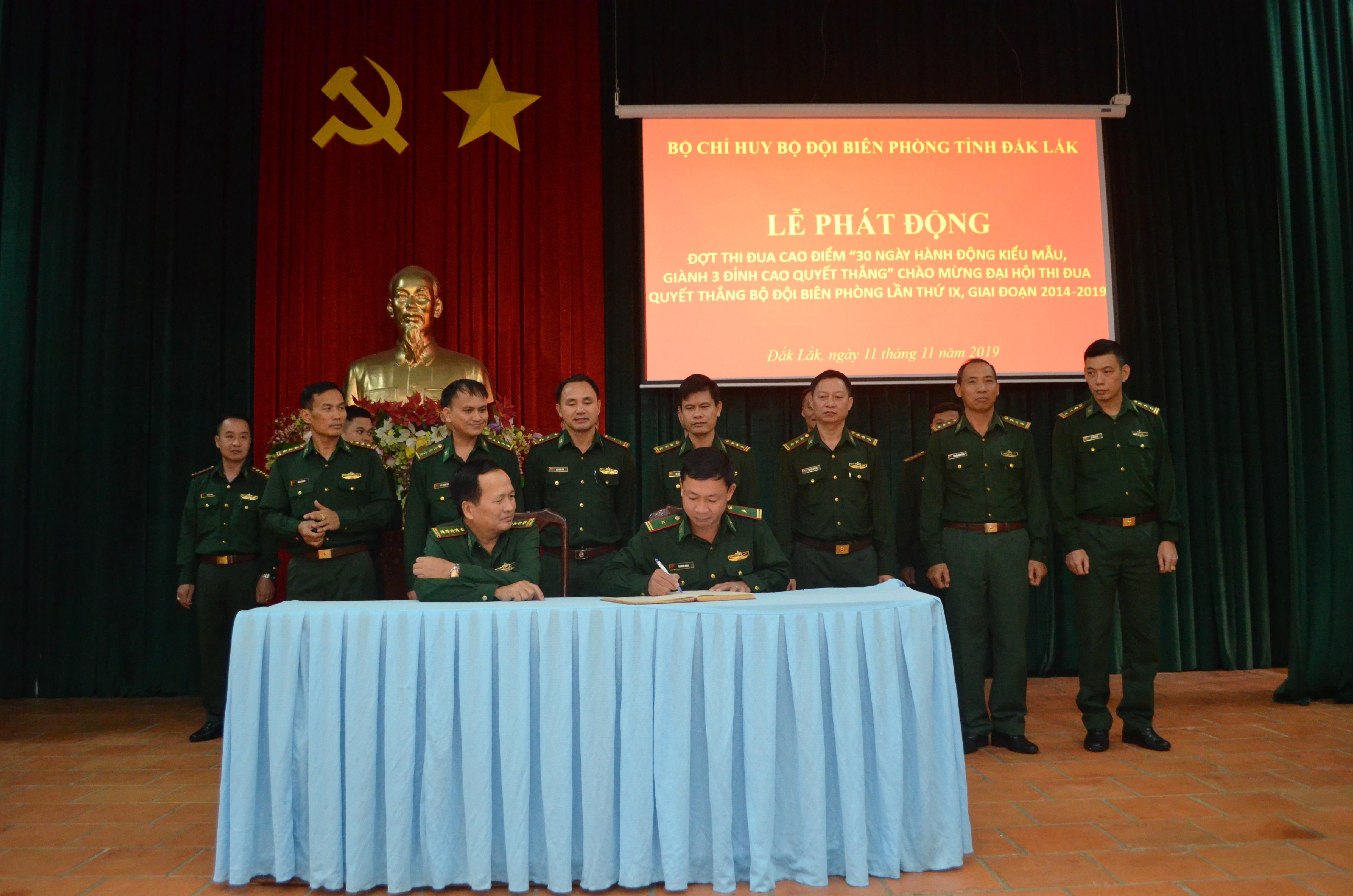 Bộ đội Biên phòng tỉnh Đắk Lắk phát động đợt thi đua cao điểm