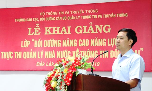 Bồi dưỡng năng lực thực thi quản lý nhà nước về thông tin đối ngoại cho cán bộ Sở, ngành, địa phương tỉnh Đắk Lắk