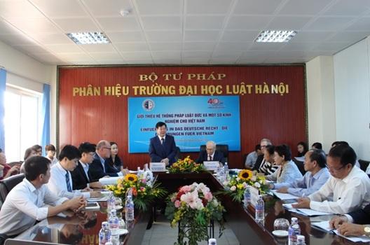 Phân hiệu Trường Đại học Luật Hà Nội tại tỉnh Đắk Lắk tổ chức Tọa đàm giới thiệu hệ thống pháp luật Đức