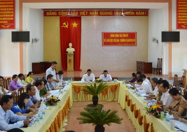 Đoàn công tác của Tỉnh ủy làm việc với Huyện ủy Krông Ana
