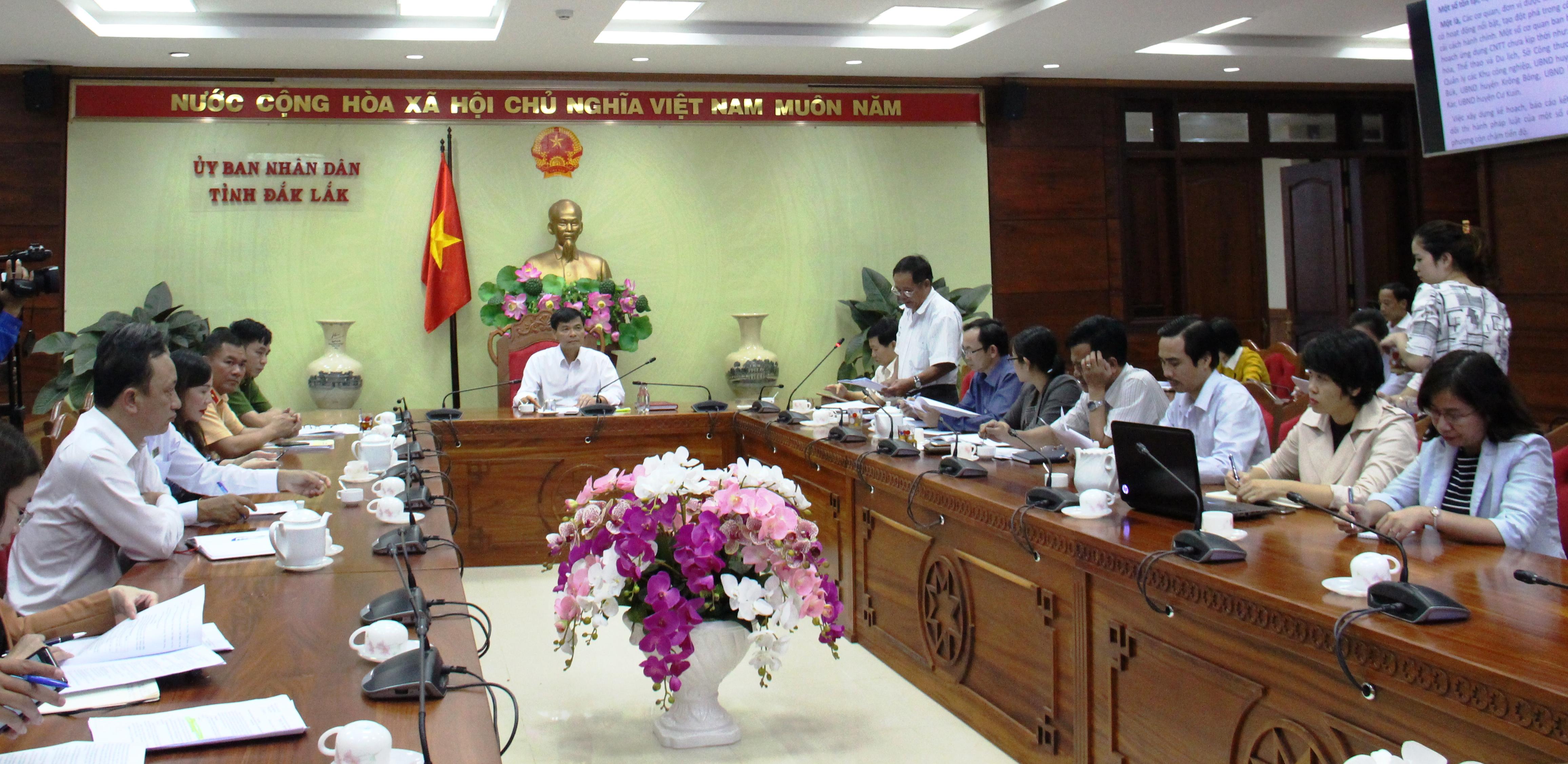 Công bố kết quả kiểm tra cải cách hành chính nhà nước năm 2019 trên địa bàn tỉnh.