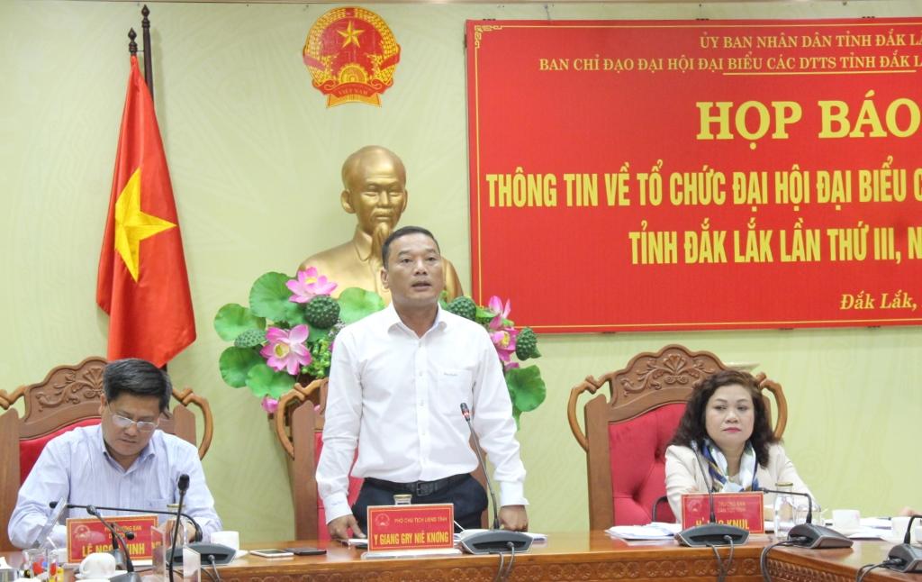 Họp báo về Đại hội đại biểu các dân tộc thiểu số tỉnh Đắk Lắk lần thứ III năm 2019