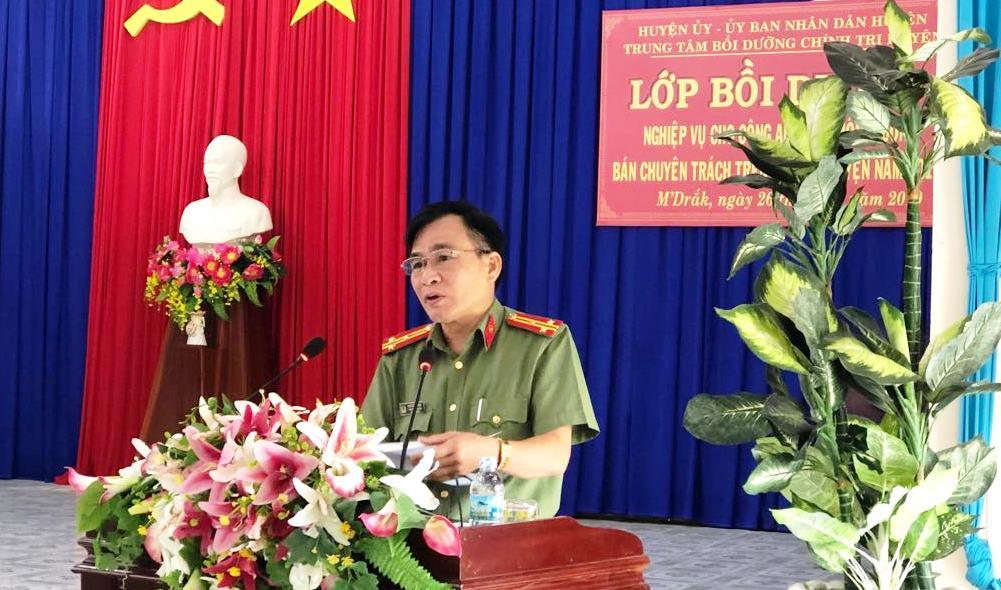 Huyện M'Drắk bồi dưỡng nghiệp vụ cho lực lượng Công an viên thôn, buôn năm 2019