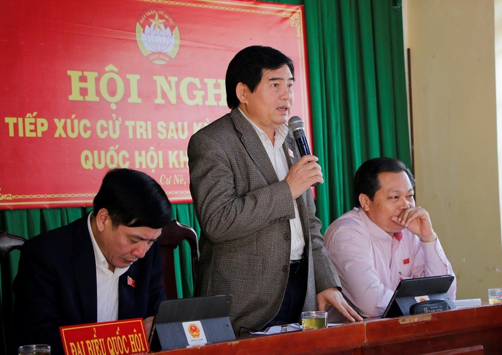 Đoàn Đại biểu Quốc hội tỉnh tiếp xúc cử tri huyện Krông Búk