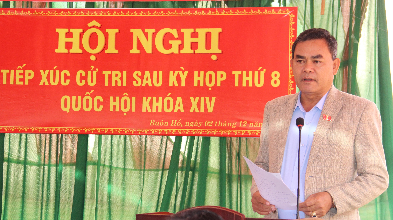 Đoàn đại biểu Quốc hội tỉnh tiếp xúc cử tri thị xã Buôn Hồ