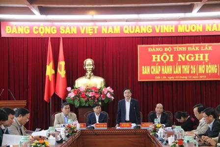 Hội nghị Ban Chấp hành Đảng bộ tỉnh lần thứ 26 (mở rộng)