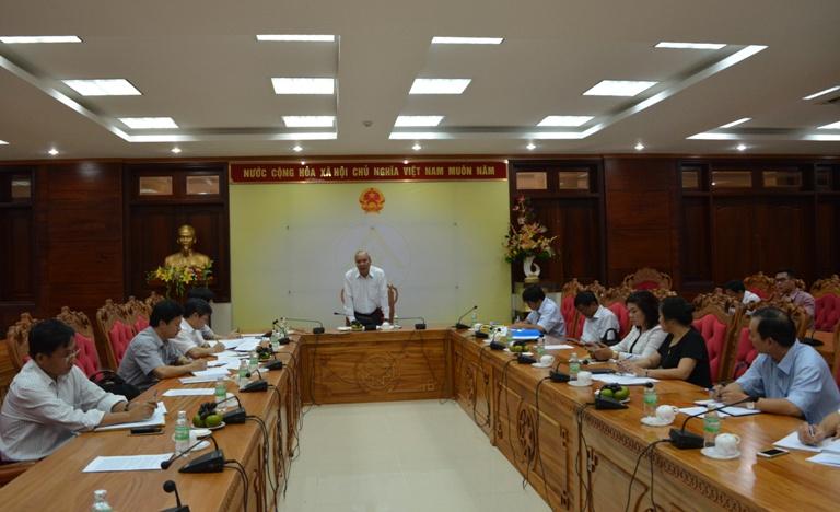 UBND tỉnh làm việc với Ban Kinh tế Trung ương.