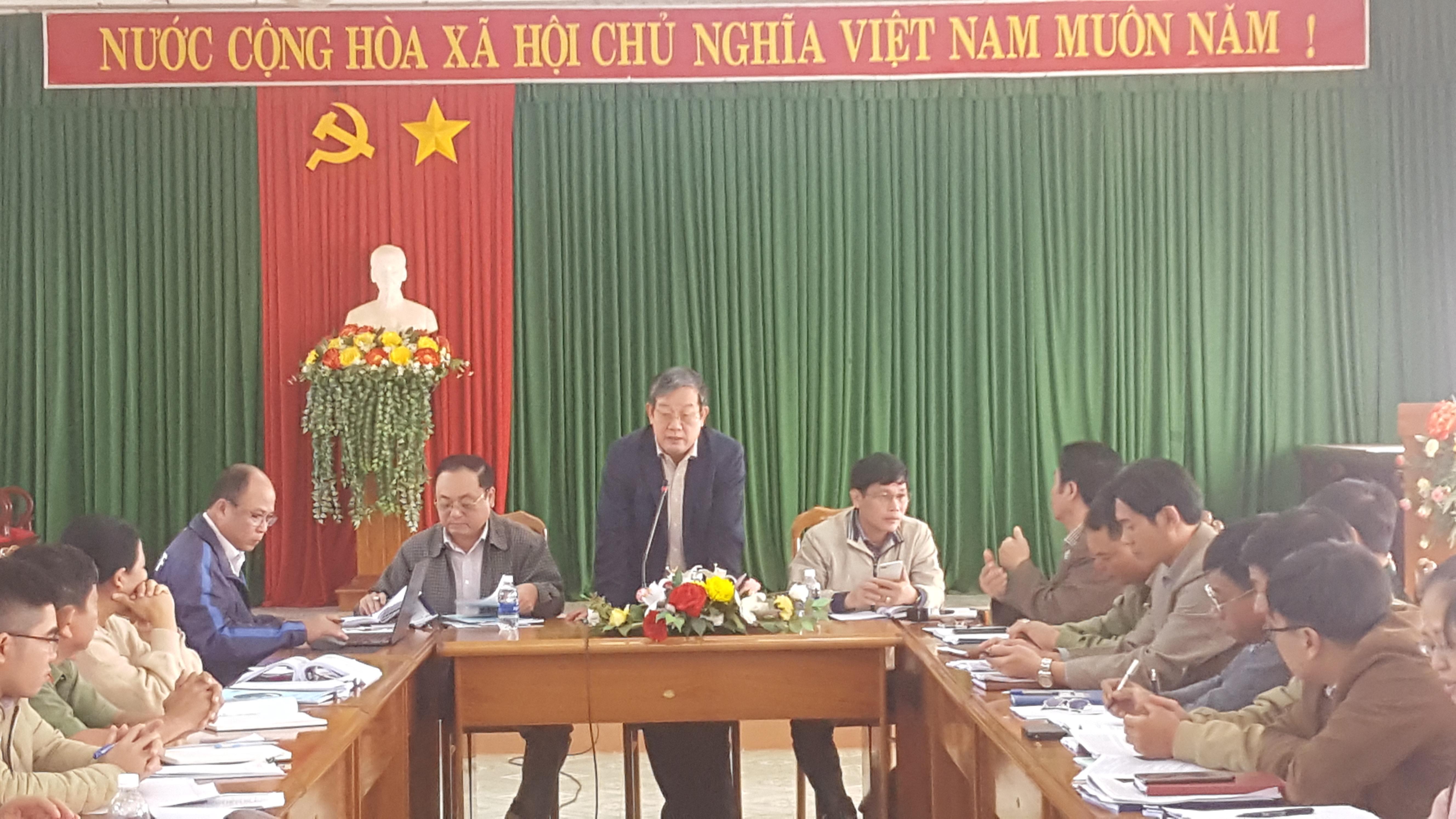 Văn phòng điều phối nông thôn mới kiểm tra tại 3 xã của huyện Ea H'leo