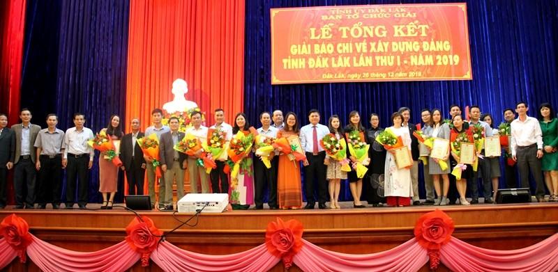 Tổng kết và trao giải Báo chí về xây dựng Đảng tỉnh Đắk Lắk lần thứ 1 năm 2019