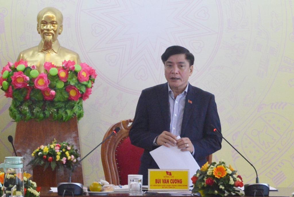 Hội nghị Ban Thường vụ Tỉnh ủy lần thứ 71