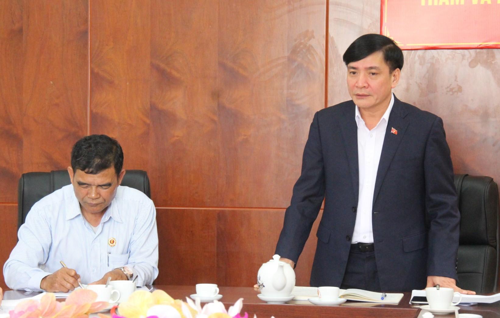 Bí thư Tỉnh ủy Bùi Văn Cường làm việc với Hội Cựu chiến binh tỉnh