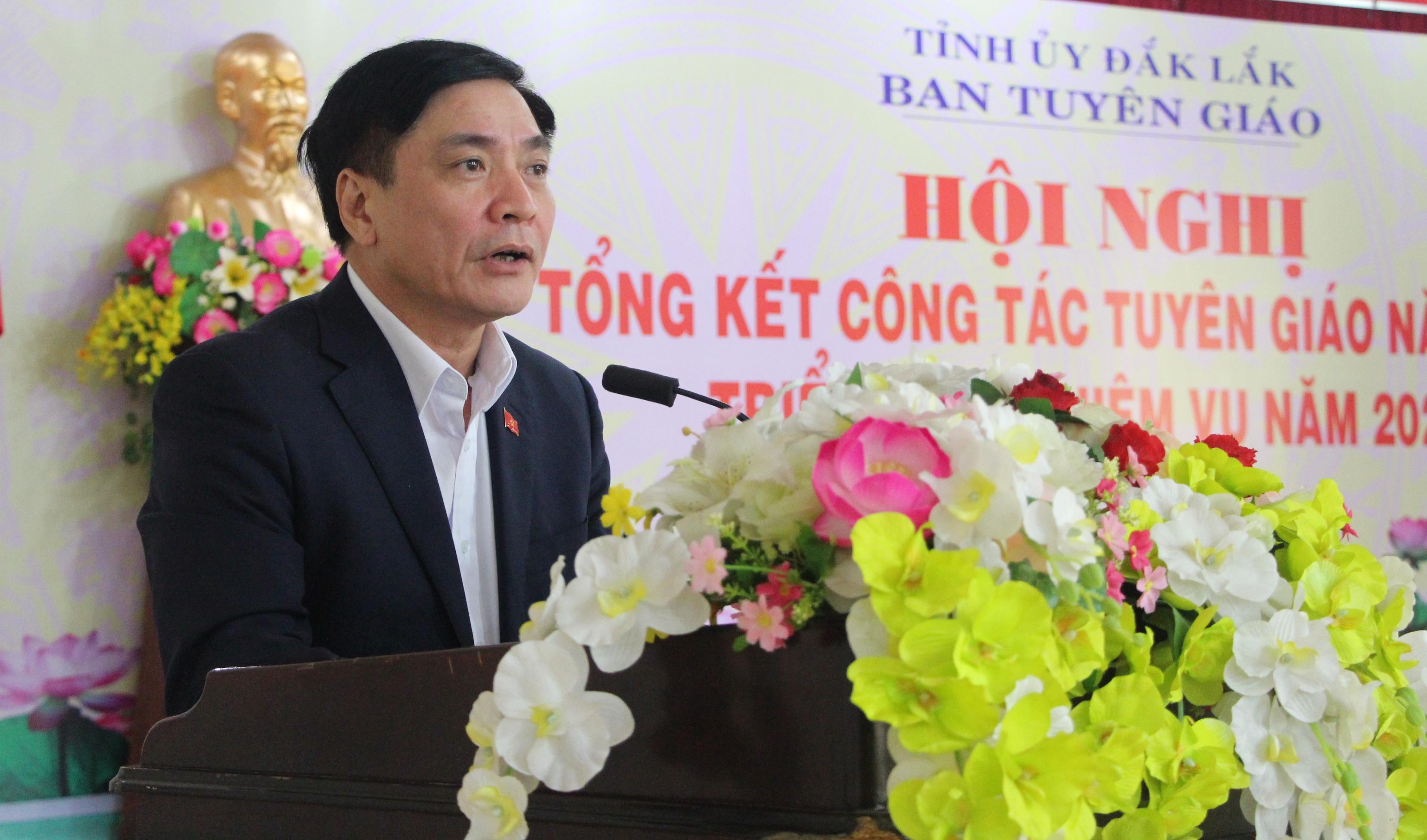 Ban Tuyên giáo Tỉnh ủy tổ chức Hội nghị Tổng kết công tác Tuyên giáo năm 2019